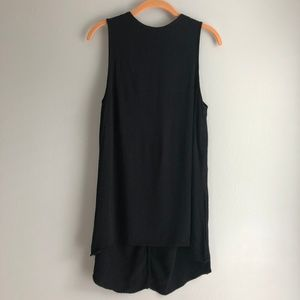TopShop Sleeveless Black Tunic Tank